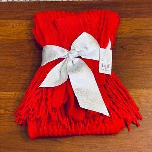 NY&C Knit Scarf and Gloves Set Acrylic OS